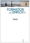 Formation emploi, n°152 - février 2021 - Varia