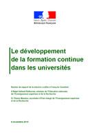 Le développement de la formation continue dans les universités