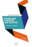 Vocabulaire d'analyse des activités