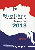 Répertoire de l'administration française 2013