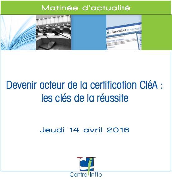 Devenir acteur de la certification CléA