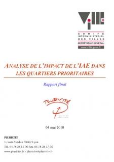 Analyse de l'impact de l'IAE dans les quartiers prioritaires