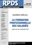Formations à l'initiative de l'employeur