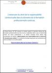 L'extension du droit de la responsabilité contractuelle dans le domaine de la formation professionnelle continue