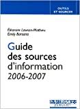 Guide des sources d'information