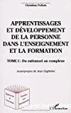 Apprentissages et développement de la personne dans l'enseignement et la formation