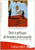 Droit et politiques de formation professionnelle
