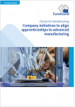Company initiatives to align apprenticeships to advanced manufacturing (Future of manufacturing)