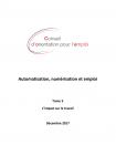 Automatisation, numérisation et emploi - Tome 3