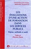 Evaluations d'une action de formation dans les services publics (Les)
