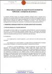 Observations à propos du projet d'accord constitutif de l'OPCO des « entreprises de services »