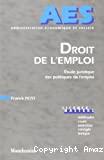 Droit de l'emploi :étude juridique des politiques de l'emploi