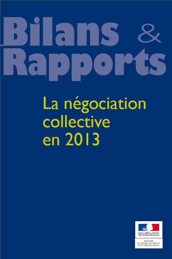 La négociation collective en 2013