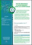 Pactes régionaux d'investissement dans les compétences