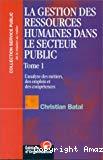Gestion des ressources humaines dans le secteur public (La)