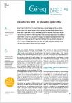 Céreq bref, n°406 - avril 2021 - Débuter en CDI