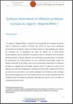 Quelques observations et réflexions juridiques à propos du rapport « Bagorski/Marx »