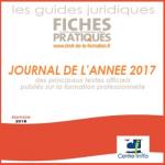 Journal de l'année 2017 des principaux textes officiels publiés sur la formation professionnelle