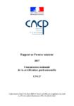 CNCP - Rapport au Premier ministre 2017