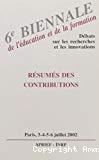 6ème biennale de l'éducation et de la formation