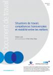 Situations de travail, compétences transversales et mobilité entre les métiers (document de travail + note de synthèse)