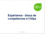 Expérience - Blocs de compétences à l'Afpa