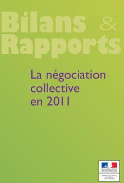 La négociation collective en 2011