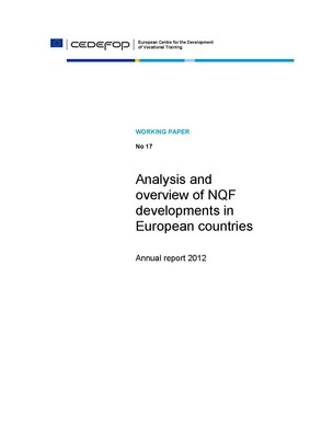 Analysis and overview of NQF developments in European countries