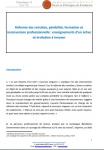 Réforme des retraites, pénibilité, formation et reconversion professionnelle