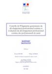 Contrôle de l'Organisme gestionnaire du développement professionnel continu et évaluation du développement professionnel continu des professions de santé
