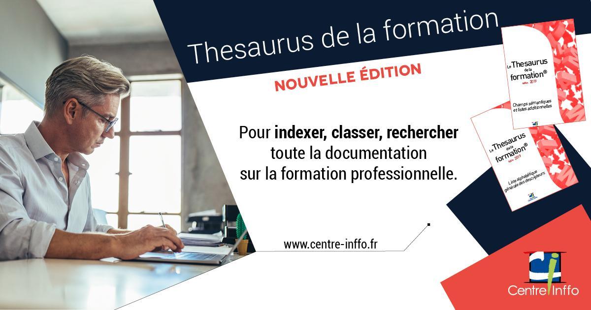 Thesaurus de la formation - Nouvelle édition