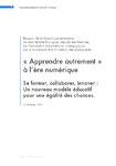 Apprendre autrement à l'ère numérique Rapport - application/pdf