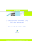 Le compte personnel de formation (CPF) : les acteurs se mobilisent - application/pdf