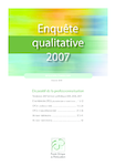 Enquête qualitative 2007