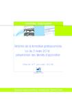 Réforme de la formation professionnelle, loi du 5 mars 2014  - application/pdf