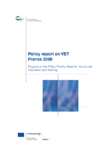 Policy report on VET France 2008
