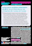 DEPP - FCU en 2012, part financée par les entr. en hausse - sept 2014 - application/pdf
