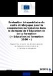 Évaluation intermédiaire du cadre stratégique pour la coopération européenne dans le domaine de l'éducation et de la formation (« Education et formation 2020 »)