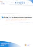 Etude VAE et développement touristique - Tome 1