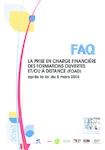 La prise en charge financière des formations ouvertes et/ou à distance (FOAD) après la loi du 5 mars 2014. FAQ - application/pdf