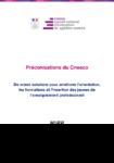 De vraies solutions pour améliorer l'orientation, les formations et l'insertion des jeunes de l'enseignement professionnel - Préconisations du Cnesco