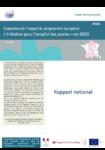 Évaluation de l'impact du programme européen « Initiative pour l'emploi des jeunes » en 2015