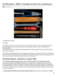 Certifications : RNCP, inventaire et blocs de compétences. Dossier