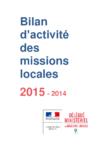 Bilan d'activité des missions locales 2015-2014