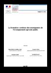 CGAAER - Formation continue des enseignants de l'enseignement agricole public - application/pdf