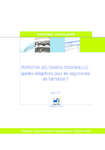 Protection des données personnelles : quelles obligations pour les organismes de formation ? - application/pdf