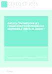 Quelle économie pour les formations professionnelles continues à visée écologique - application/pdf