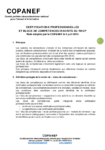 Certifications professionnelles et blocs de compétences inscrits au RNCP