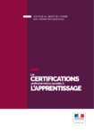 Les certifications professionnelles ouvertes à l'apprentissage