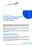 L'impact au niveau national des cadres européens de compétences: réunion thématique du 27 mai 2019 : compte-rendu